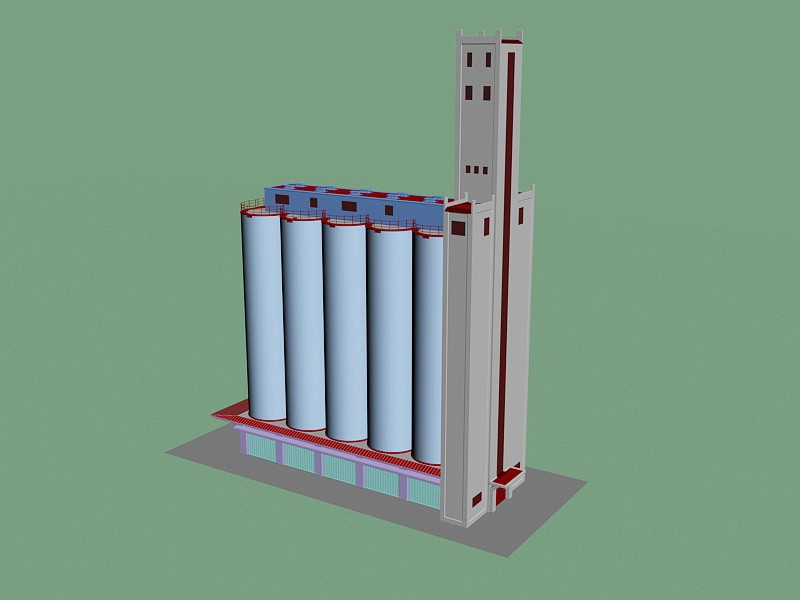 Chemical Factory 3d rendering