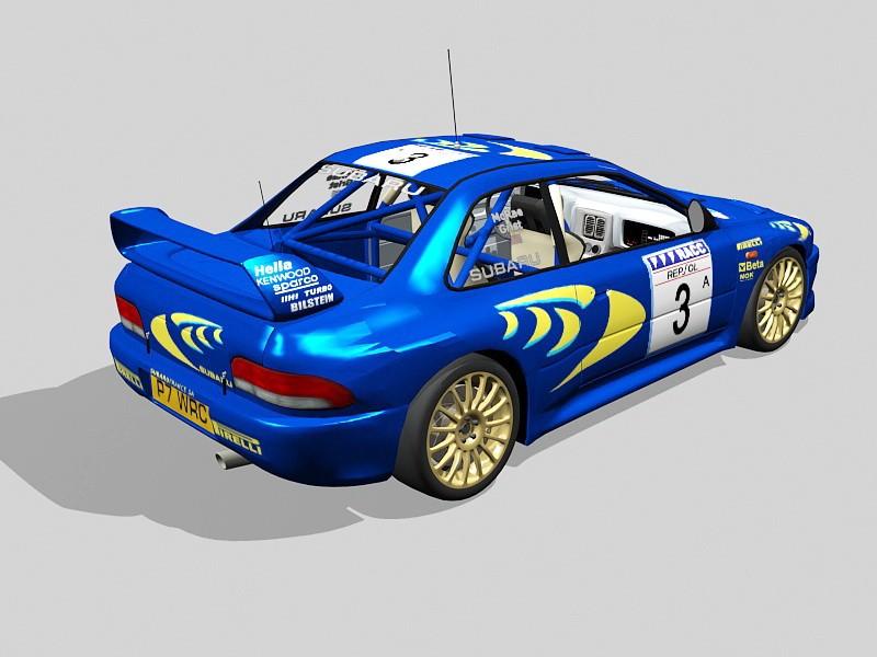 Subaru BRZ Race Car 3d rendering