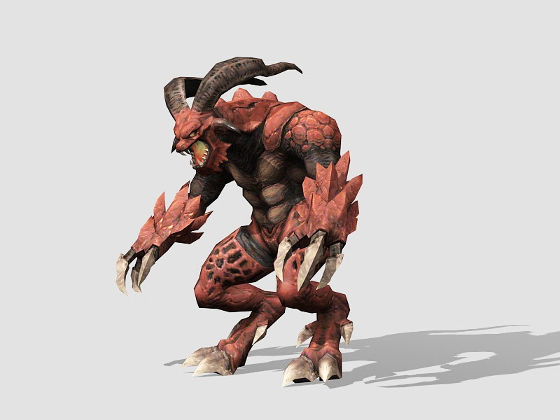 Demon of Hell 3d rendering