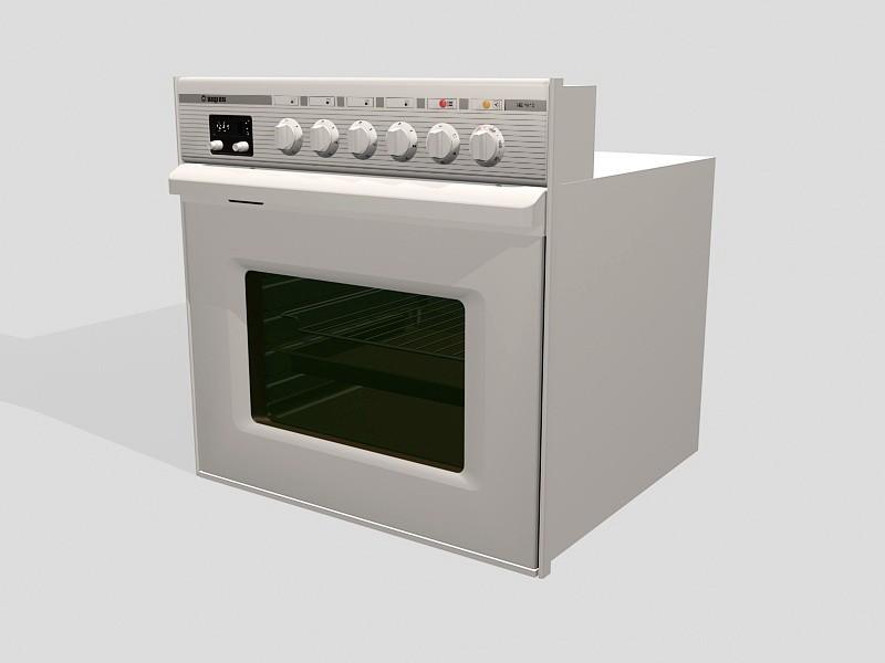 Built-in Oven Fixture 3d rendering
