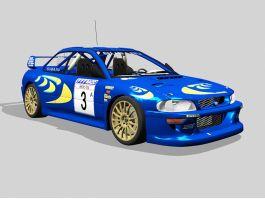 Subaru BRZ Race Car 3d model preview