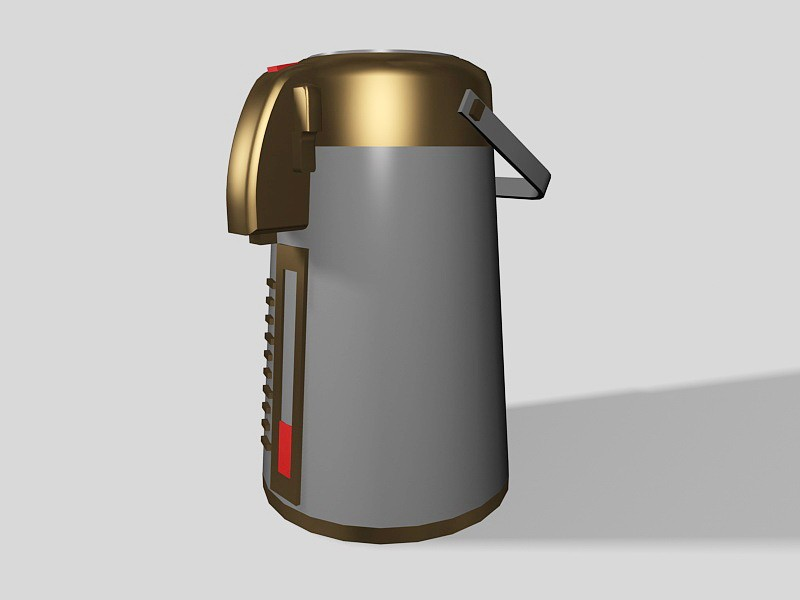 Old Electric Kettle 3d rendering