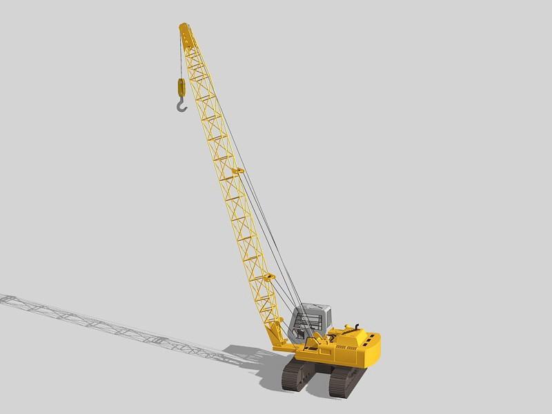 Movable Crane 3d rendering