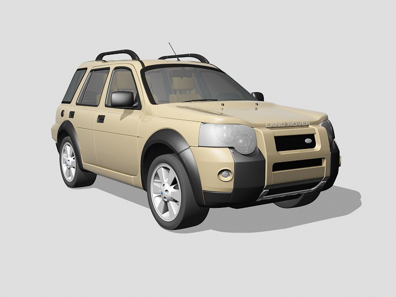 Land Rover Freelander 3d rendering