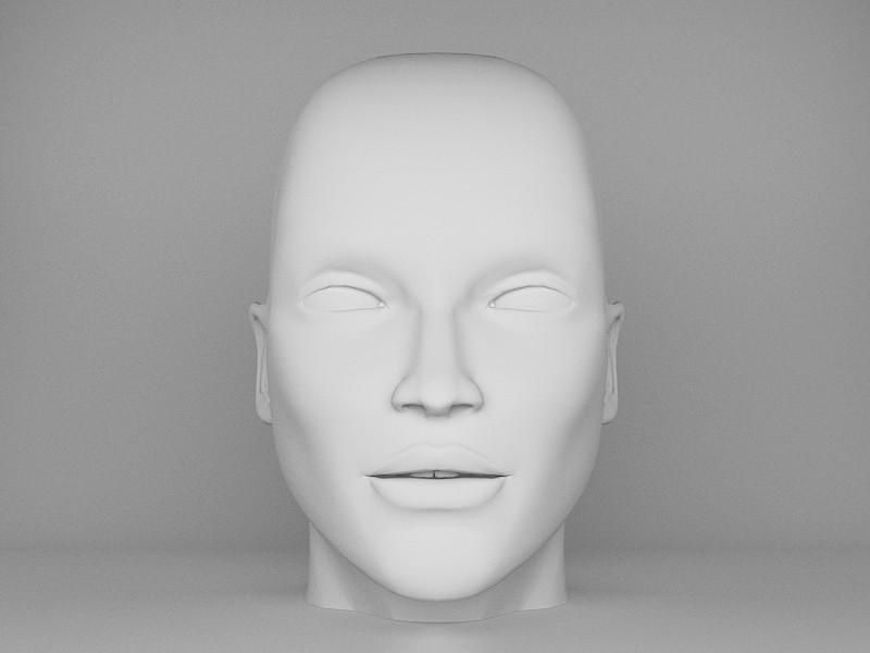 Human Male Head 3d rendering