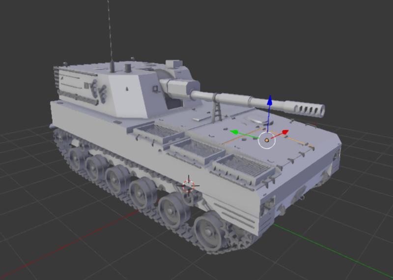 PLZ-07 Self-Propelled Howitzer 3d rendering