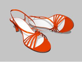 Women's Red Sandals 3d preview