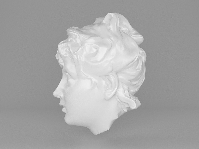 Female Statue Head 3d rendering