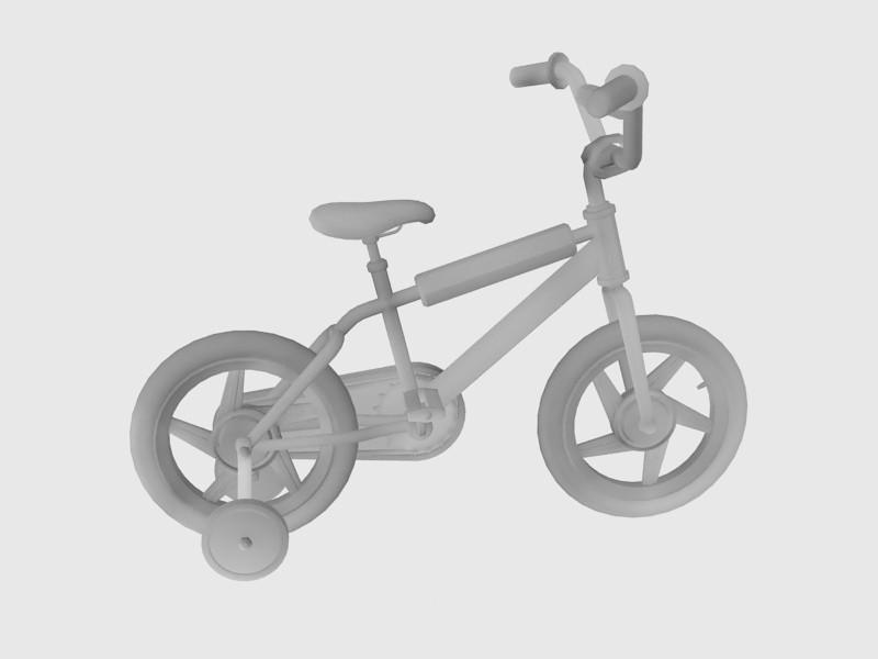 Toddler Bicycle 3d rendering