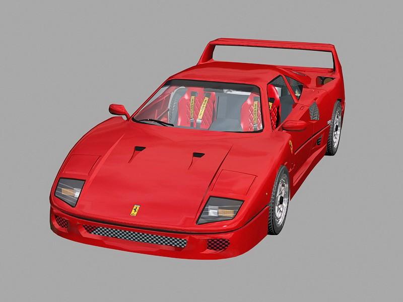 Ferrari F40 Competizione 3d rendering