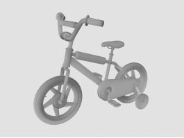 Toddler Bicycle 3d preview