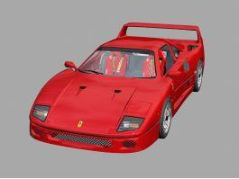 Ferrari F40 Competizione 3d preview