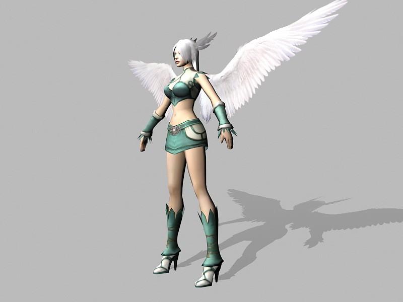 Angel Warrior Character 3d rendering