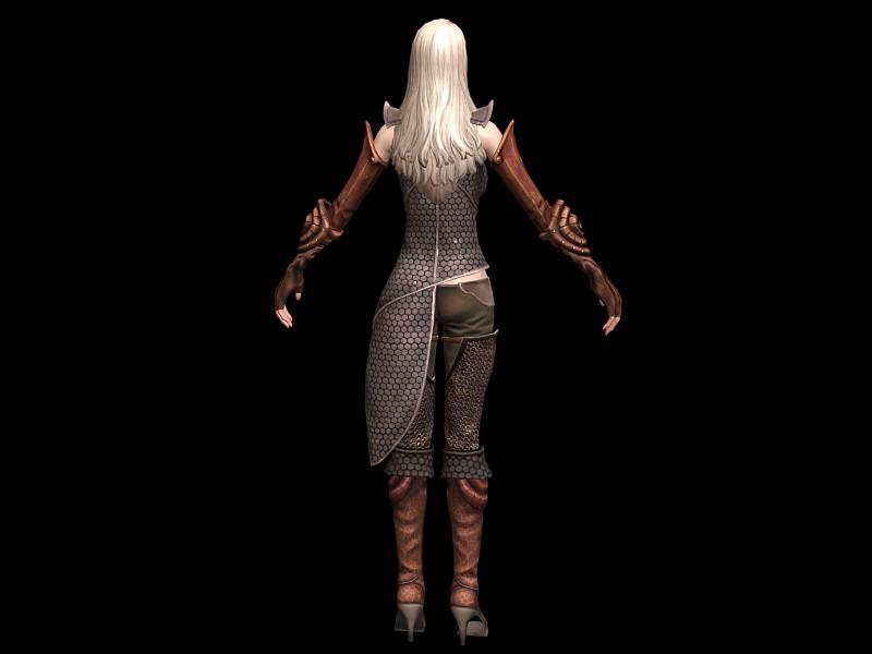 Female High Elf Noble 3d rendering
