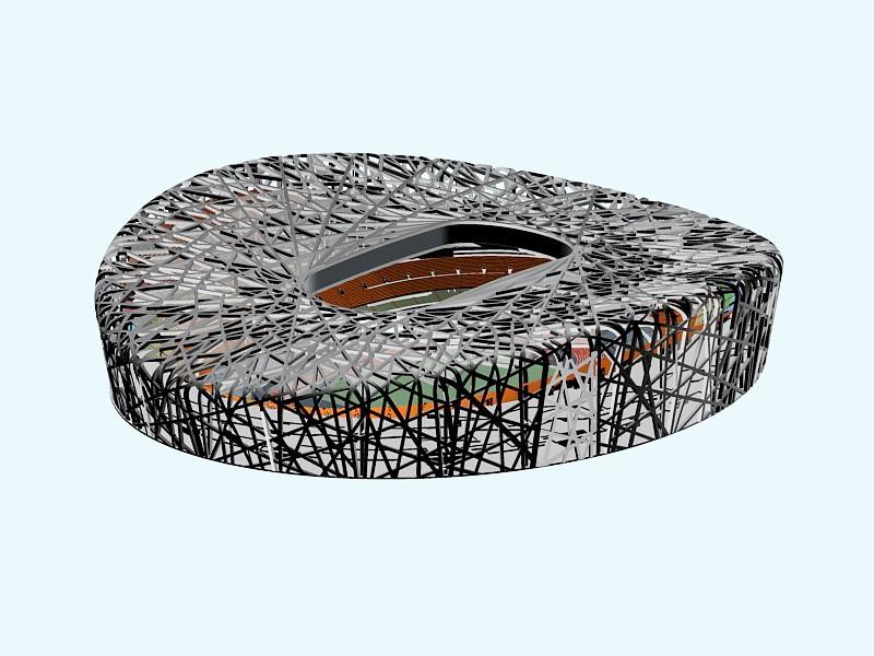 Beijing National Stadium 3d rendering