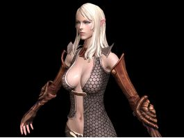 Female High Elf Noble 3d preview