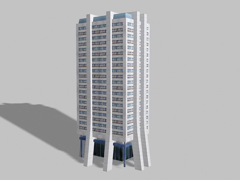 Modern Corporate Office Building 3d rendering