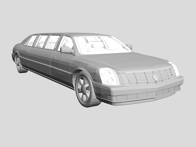 Lincoln Stretch Limousine 3d rendering