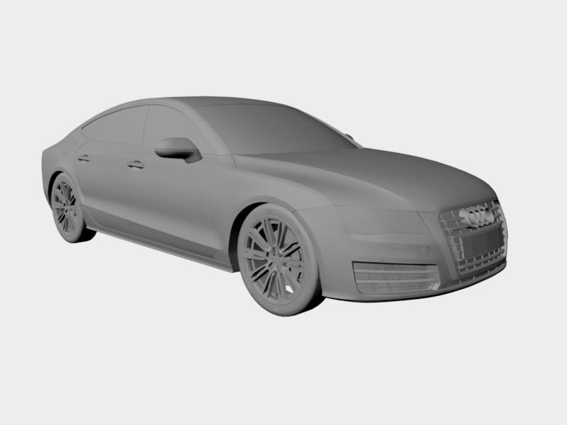 Audi A7 Executive Car 3d rendering