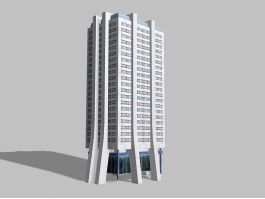 Modern Corporate Office Building 3d preview