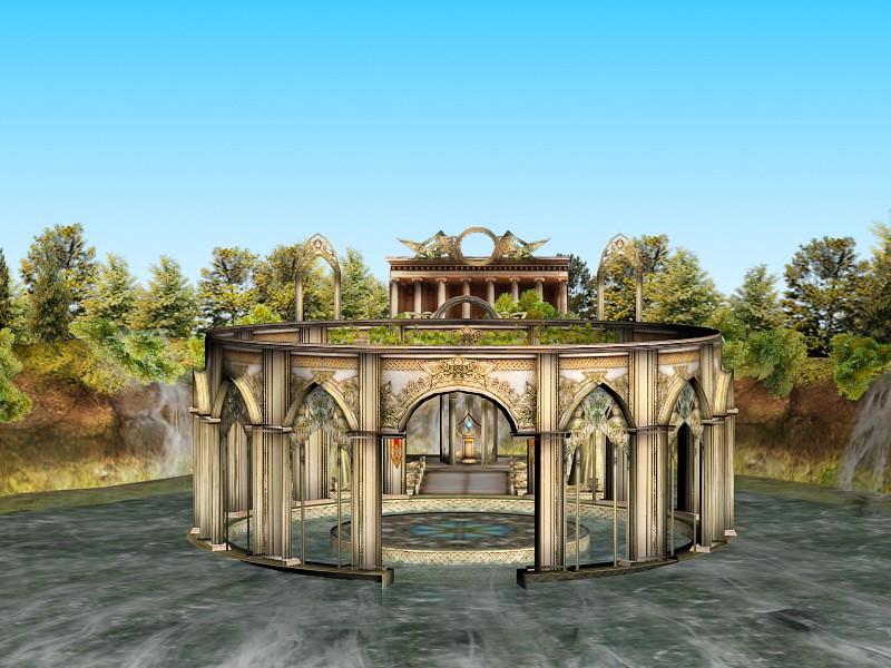 Ancient Temple Ruins 3d rendering