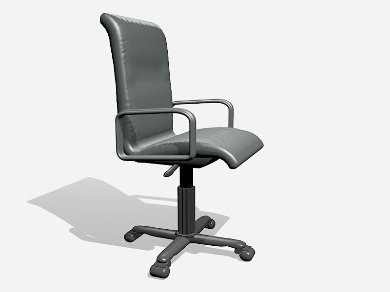 Swivel Desk Chair with Wheels 3d rendering