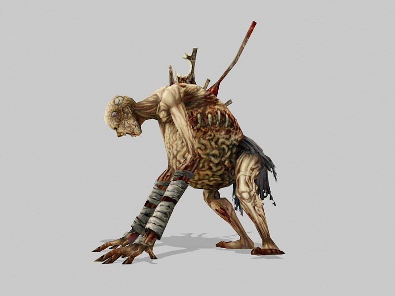 Scary Mummy Zombie 3d rendering