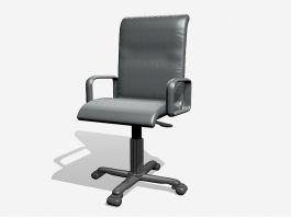 Swivel Desk Chair with Wheels 3d model preview