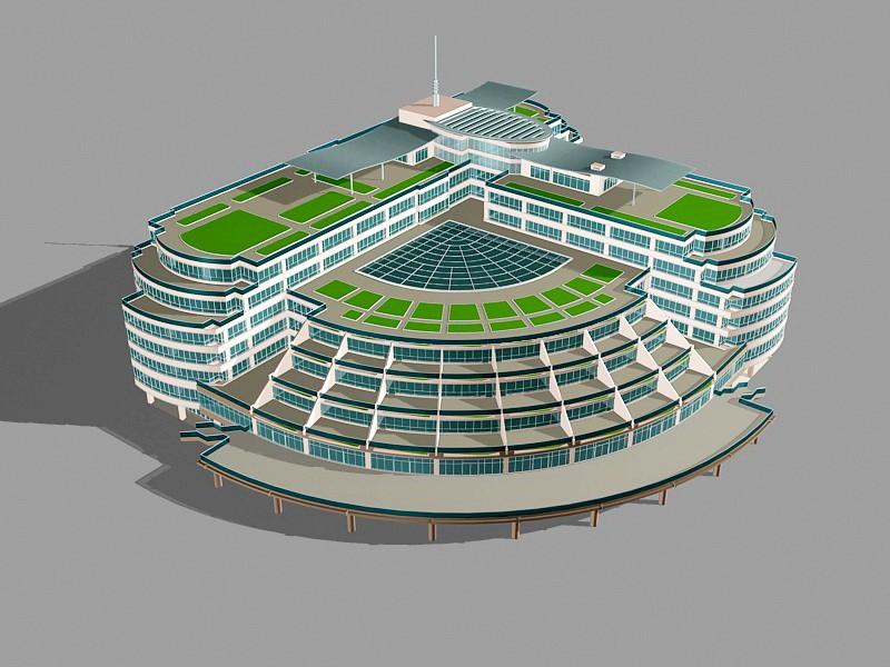 Modern Luxury Hotel 3d rendering