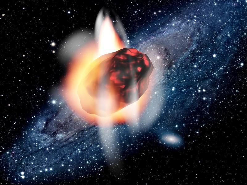 Meteorite Falling From Sky Stars 3d rendering