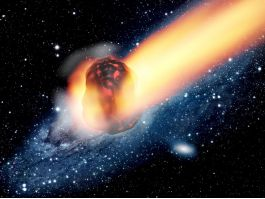 Meteorite Falling From Sky Stars 3d model preview