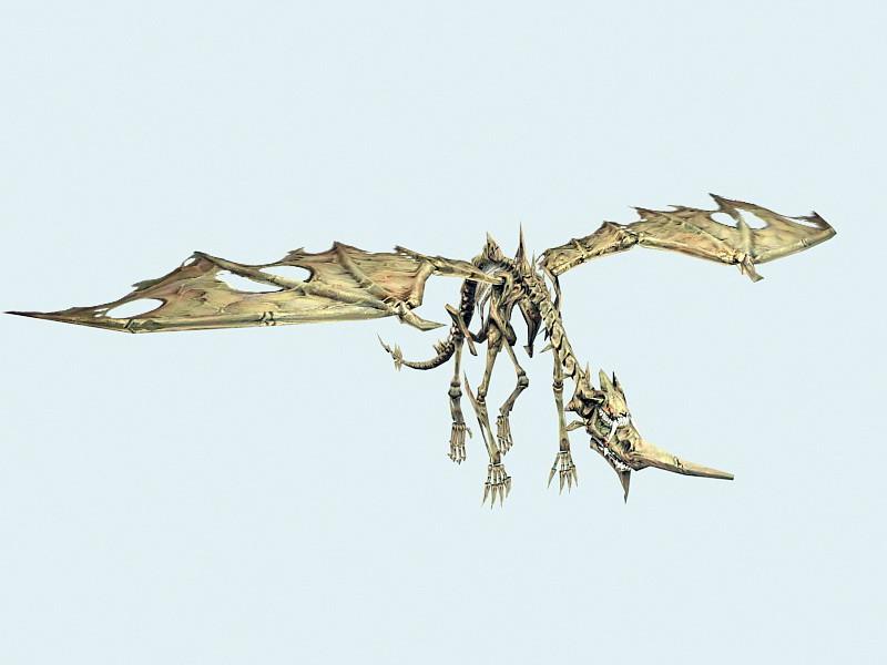 Bone Drake 3d rendering
