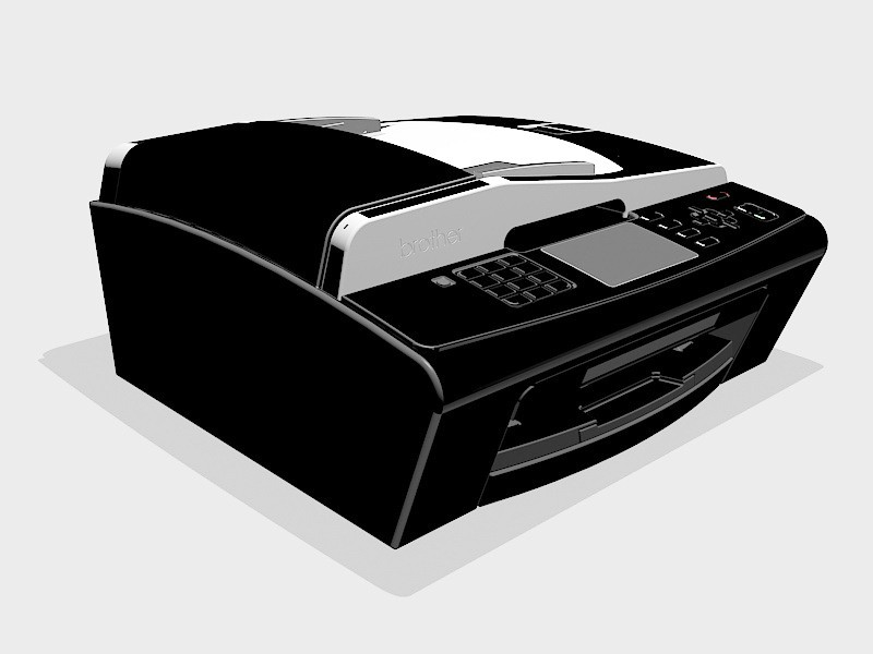 Brother MFC Printer 3d rendering
