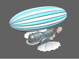 Steampunk Airship 3d preview