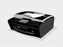 Brother MFC Printer 3d preview
