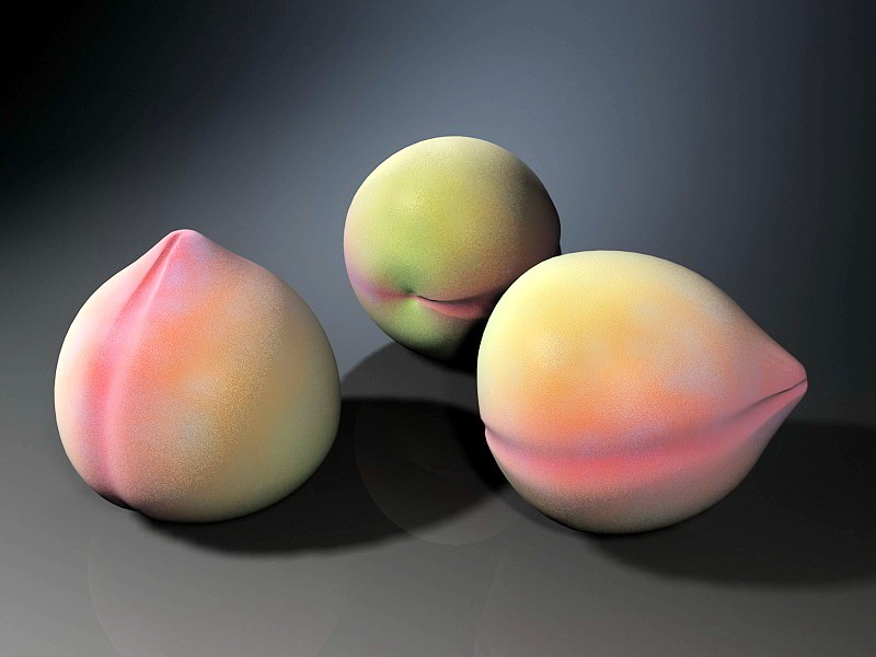Red Peaches 3d rendering