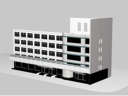 5 Story Office Building Block 3d preview
