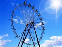 Amusement Park Ferris Wheel 3d model preview