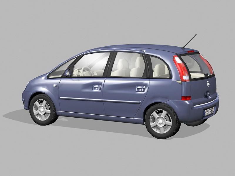 Opel Meriva Mini MPV 3d rendering