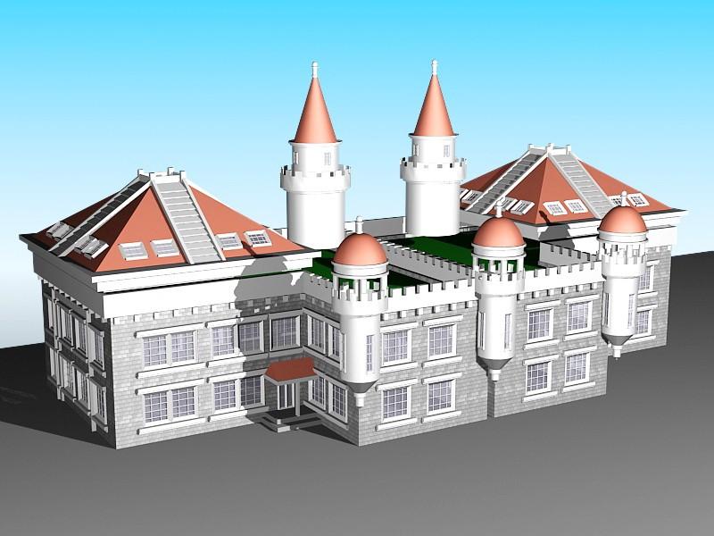 Vintage Victorian House 3d rendering