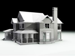 Traditional Family House 3d preview