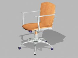 Brown Leather Desk Chair 3d preview