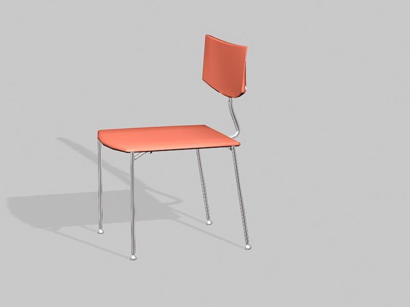 Metal Dining Chair 3d rendering