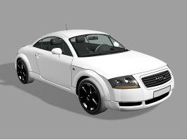 White Audi TT 3d preview