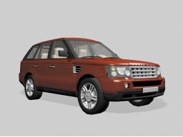 Red Land Rover Range Rover Evoque 3d preview