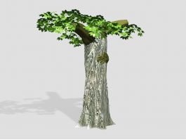 Dead Tree with Leaves 3d model preview