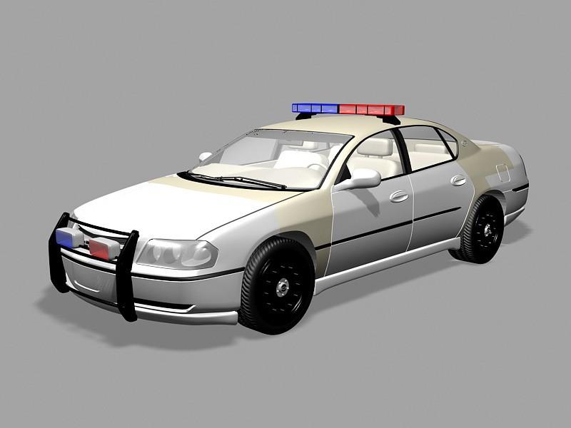 Chevrolet Impala Police Car 3d rendering
