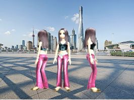 Anime Cool Fashion Girl 3d preview