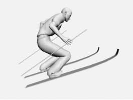 Skiing Man 3d preview