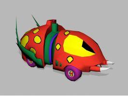 Cartoon Beetle Car 3d preview